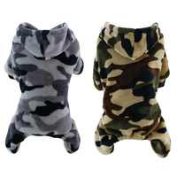 Ropa de camuflaje de lana Para perros Ropa de doble gamuza de cuatro patas con capucha Ropa Para Perro Bulldog francés Pug H1