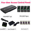 Inbio460 fingeprint & rfid-карта контроль доступа четыре двери Система доступа комплект полная биометрическая система контроля допуска к двери