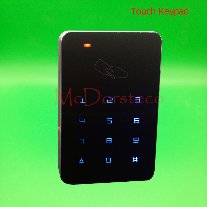 Backlight Touch keypad 125khz Rfid Access Control EM ID Keypad Single Door Stand-alone Access Controller & Wiegand 26 bit In lpsecurity 125khz id em or 13 56mhz rfid metal door lock access controller with digital backlit keypad ip65 waterproof