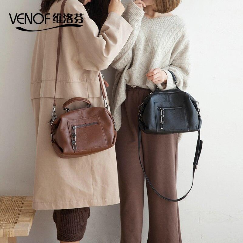 100% Genuine Leather Handbags For Roomy Shoulder Bags Ladies Messenger Bags Crossbody Women