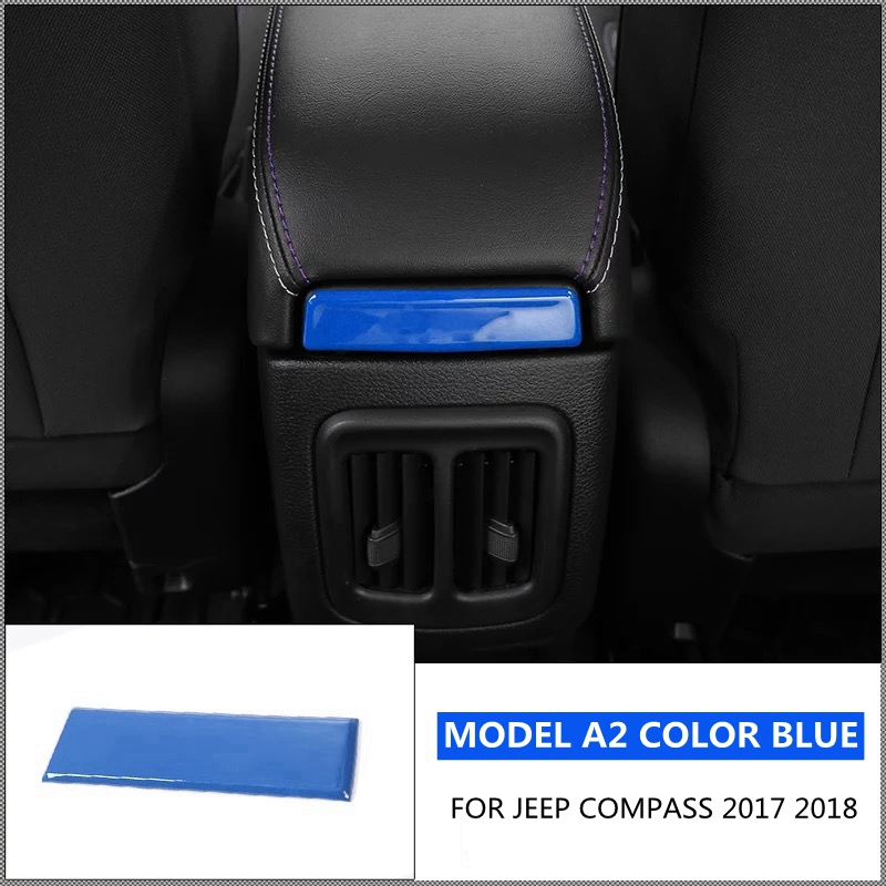 Image 2 - Accessories For Jeep Compass 2017 2018 Armrest Box Decoration Molding Cover Kit Trim RED BLUE MATTE BRIGHT CARBON FIBER BLACK-in Interior Mouldings from Automobiles & Motorcycles