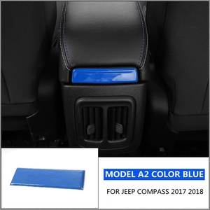 Image 2 - Accessories For Jeep Compass 2017 2018 Armrest Box Decoration Molding Cover Kit Trim RED BLUE MATTE BRIGHT CARBON FIBER BLACK
