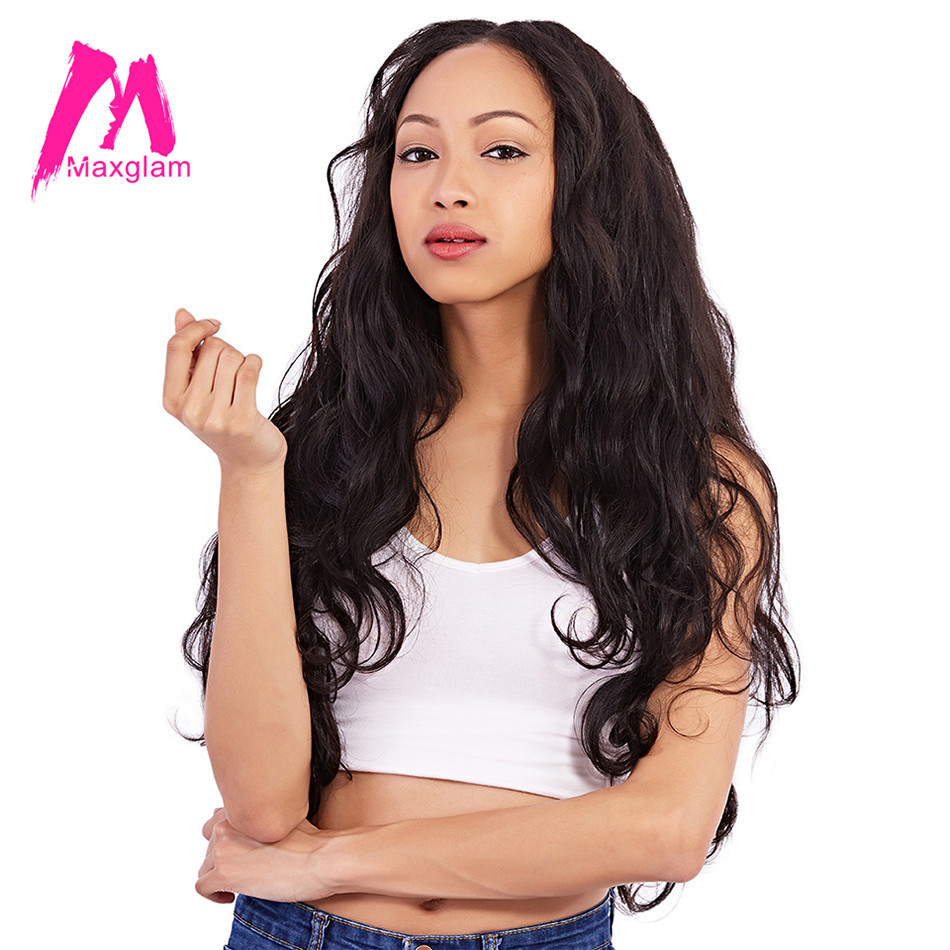 Maxglam Brazilian Virgin Hair Weave Bundles Body Wave Human Hair Bundles Unprocessed Natural Color Free Shipping
