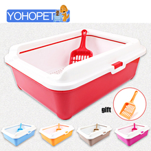 High-end Cat Toilet Closed Prevent sand throwing WC Cat Toilet Cats Litter Box Safe and nontoxic  5 colors optional 43*31*15cm