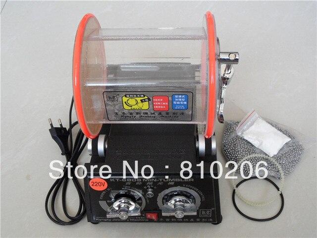 3Kg Rotary Tumbler Jewelry Polisher & Finisher with 500g polishing 3mm media and 1 small pack polishing powder