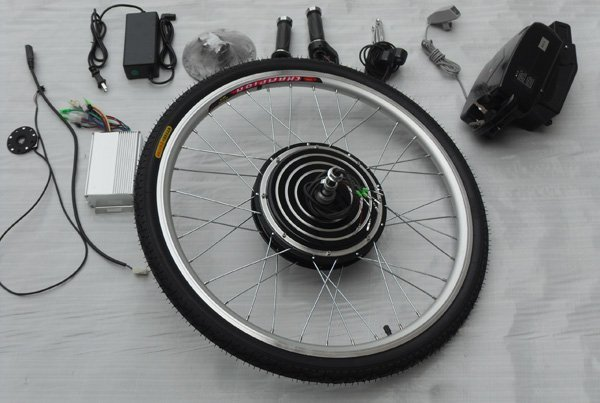 Free shipping! XIAOQINGWA 36v 10ah lithium battery included, disc brake, 36v 350w electric bike conversion kits with rear wheel