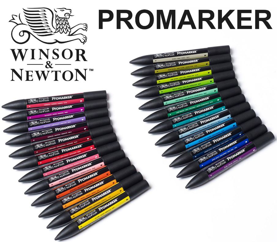 Winsor Newton Promarkers Twin Tip Graphic Marker Pens 148 Full Colors