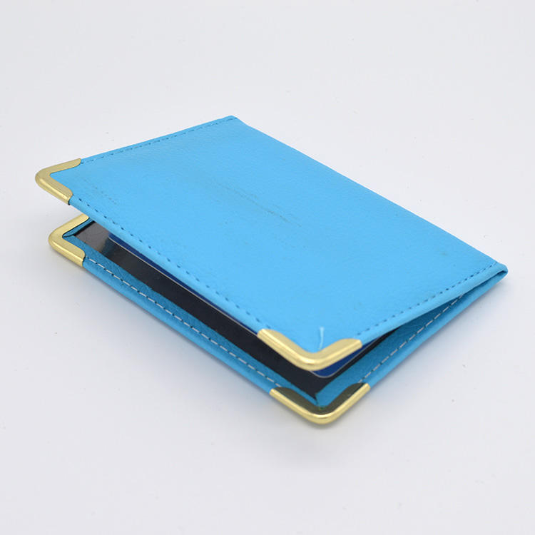 Hot Sale Ladies Travel Card Holder Wallet for Bus Id Bank Card Cute Leather Card Id Holders Blue Wallet for Credit Cards fashion genuine leather men card holder cow leather card id holders business bank card holder minimalist wallet for credit cards
