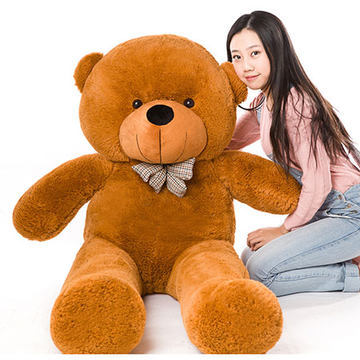 цена на Stuffed animal 47 inch dark brown Teddy bear plush toy soft doll throw pillow gift w1681