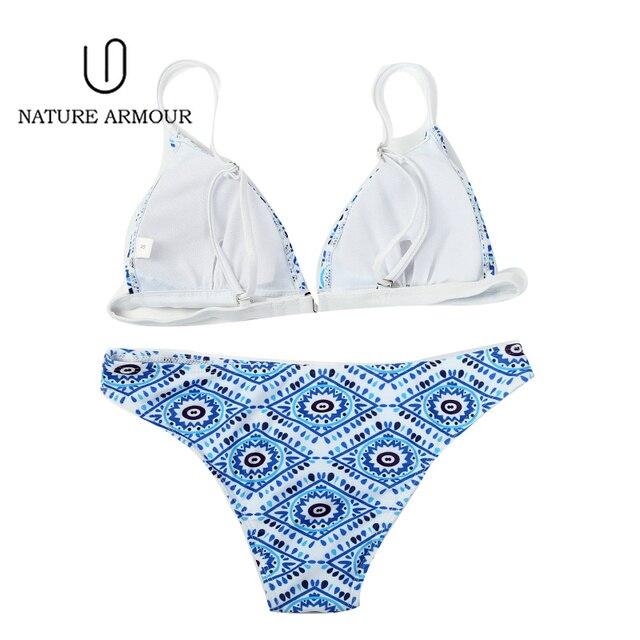 NATURE ARMOUR bikini 2018 new stripe sexy swimsuit print swimwear beach swimming suit for women bikini push up swimwear women 3