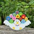 Medios de enseñanza Montessori bebés madrugadores barra de equilibrio bloques de construcción, juguetes de los niños, juguetes educativos de madera