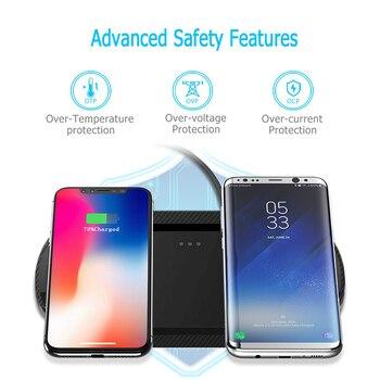 10 Вт двойное Беспроводное зарядное устройство для IPhone XS XR X 8 11 AirPods Qi двойная быстрая зарядная станция Pad для Samsung S10 S9 S8 Galaxy Buds