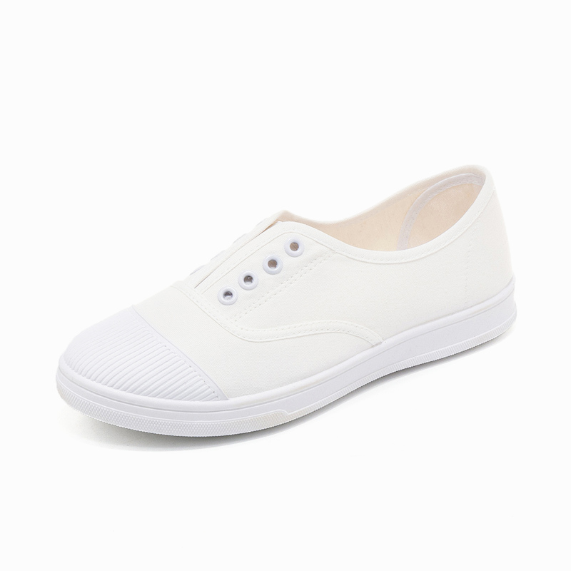 Hot Sale Fashion Women solid color White Canvas Shoes Concise Low Top Casual Flat Student Shoes Solid Canvas Women Shoes Zapatos hot sale 2016 top quality brand shoes for men fashion casual shoes teenagers flat walking shoes high top canvas shoes zatapos