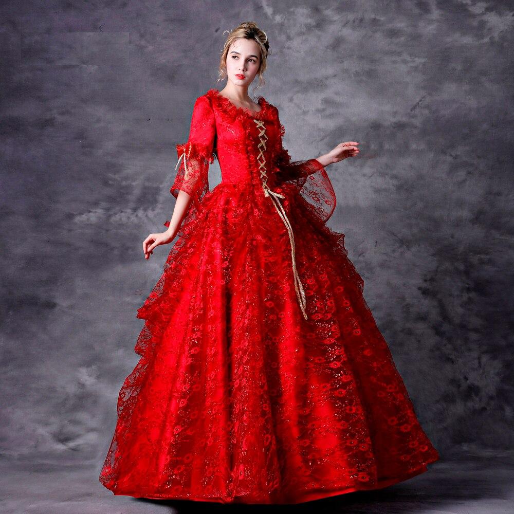 rot velvet victorian kleid