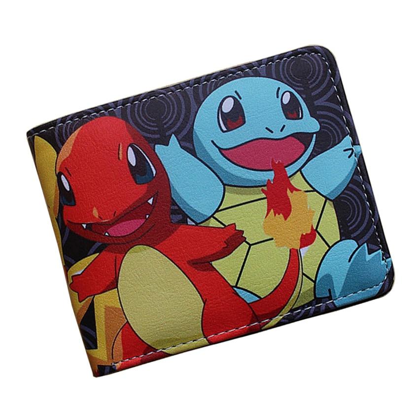 Frank Tasche Monster Pokemon Wallets Kreative Geschenk Geldbörse Kinder Kawaii Pikachu Pokeball Geld Taschen Männer Frauen Leder Kurze Brieftasche