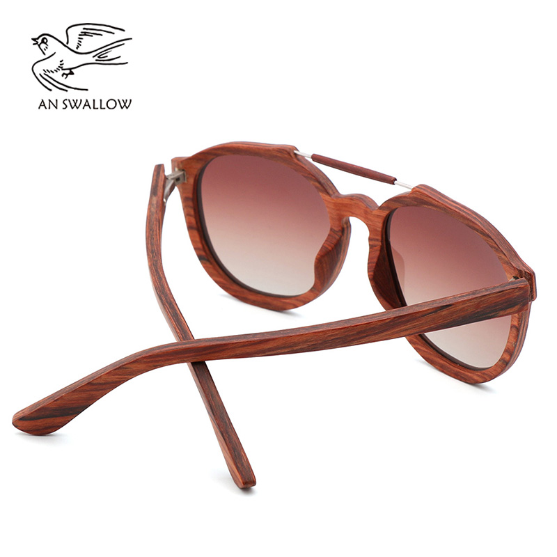 AN SWALLOW Fashion pretty women 39 s new red wooden wooden sunglasses women sunglasses with bamboo wood box giving gifts in Women 39 s Sunglasses from Apparel Accessories