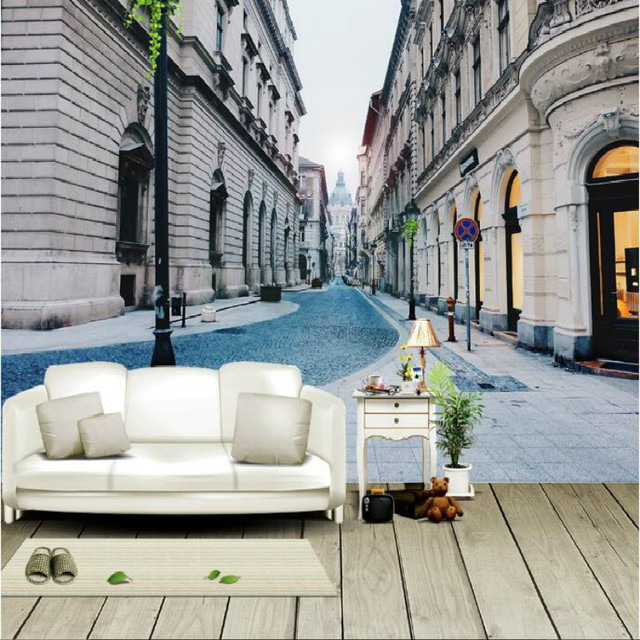 European City Street Alley Large Wall Murals Wallpaper Living Room Bedroom  Wallpaper Painting TV Background Wall Part 87