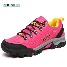 2016 Brand Womens Hiking Shoes Outdoor Hunting Hot Breathable Women Climbing Leather Footwear Mountain Trekking Famale Sneakers