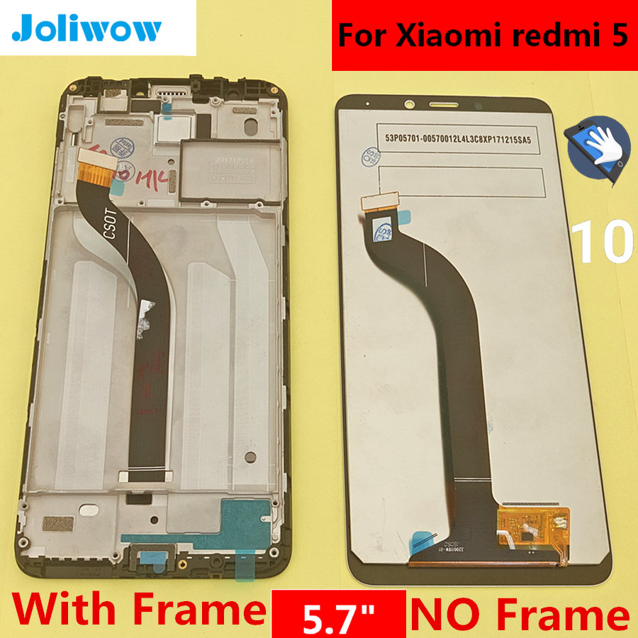 tested! 5.7 For Xiaomi Redmi 5 Redmi5 LCD Display and Touch Screen Digitizer Assembly Replacement Accessories for phone