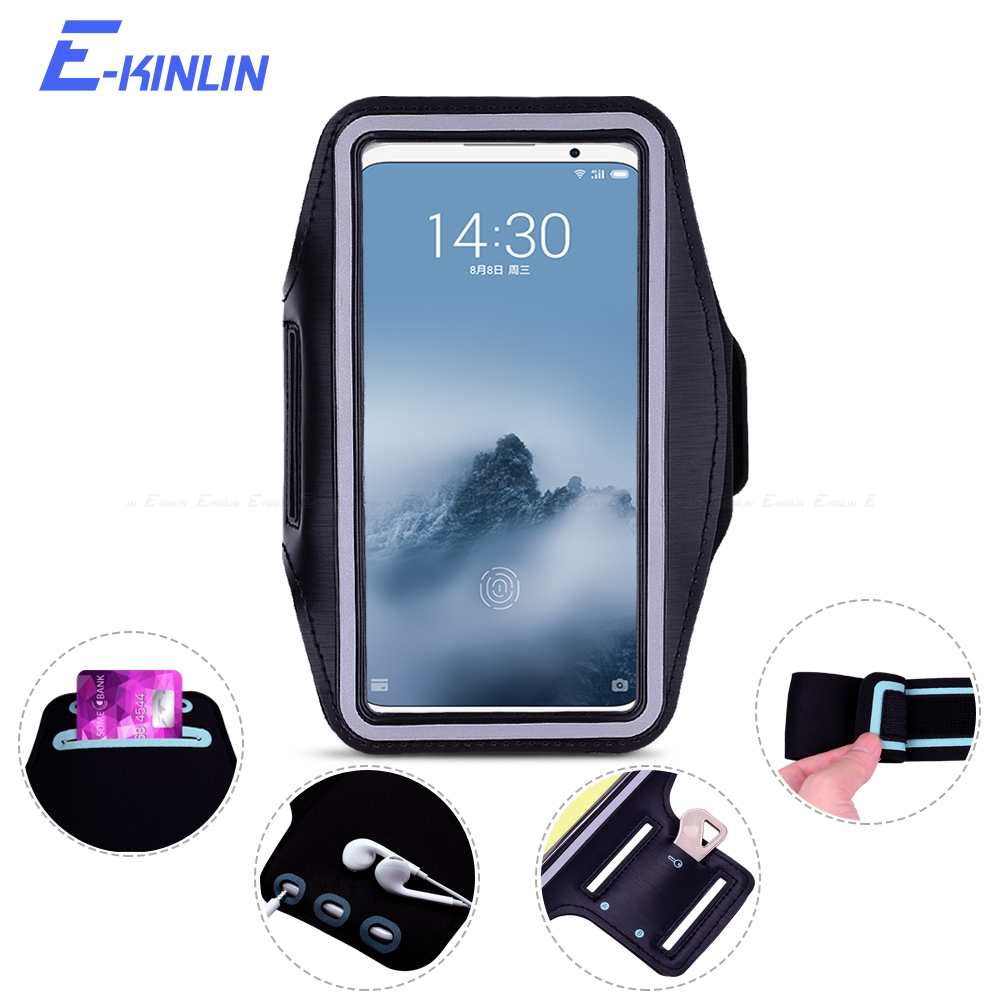 Arm Band Cover Case For <font><b>Meizu</b></font> 17 16s 16T 16Xs 15 Lite 16th <font><b>16</b></font> X M8c M6T M6 M5S M5C Note 8 9 <font><b>Pro</b></font> 7 Plus Sport Running Phone Bag image