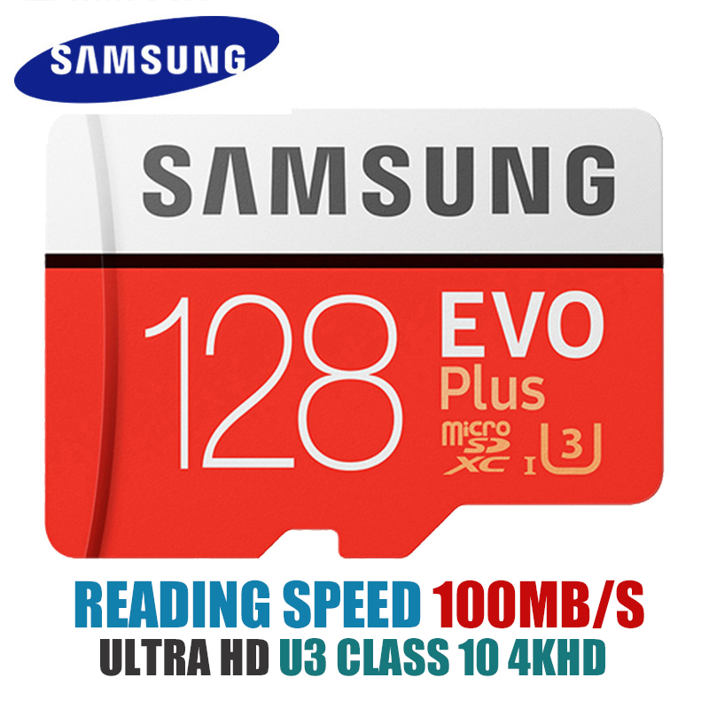Samsung micro sd Card 32GB 64GB 128GB 256GB Memory card 100MB/s tarjeta micro sd carte SDHC SDXC C10 U3 4K tf card discount samsung micro sd card memory card evo plus 256gb 128gb 64gb 32gb 16g class10 tf card c10 sim card 100mb s sdhc sdxc uhs i128gb