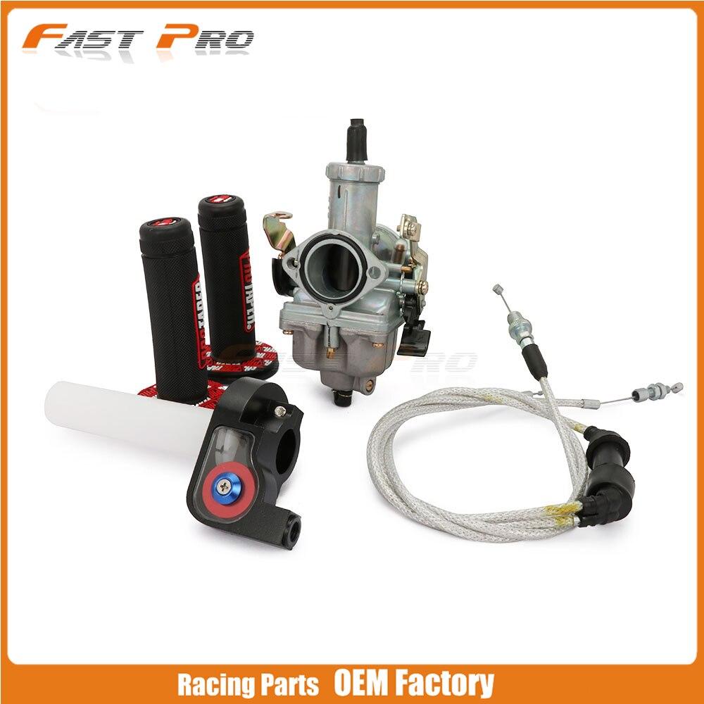 Moto PZ30 30 MM 30 Pro réglage accéléré carburateur à Jet de puissance Twister câble d'accélérateur poignées ensemble 200CC 250CC