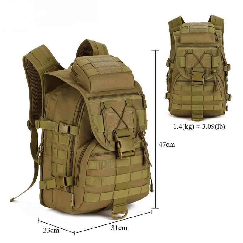 Kualitas 40L Ransel Taktis Militer Molle Nilon Tahan Air Pack Pria untuk Wanita untuk Pria Ransel Outdoor Hiking Tas Berkemah