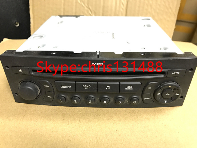 US $90 0 |Free EMS/DHL GENUINE RD45 Car Radio with CD USB for Peugeot 207  206 307 308 807 Citroen C2 C3 C4 C5 C8 (set VIN code by yourself-in Car CD