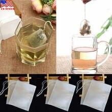 100 шт пустые чайные пакетики струны тепловые уплотнения фильтр бумажные травы свободные одноразовые нетканые чайные пакеты чайный мешок