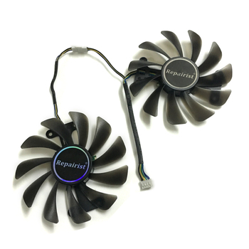 2pcs/Set Video Cards Fan GPU Cooler For KFA2 GTX1070Ti EX GTX 1080/1070 EXOC Graphics As Replacement image
