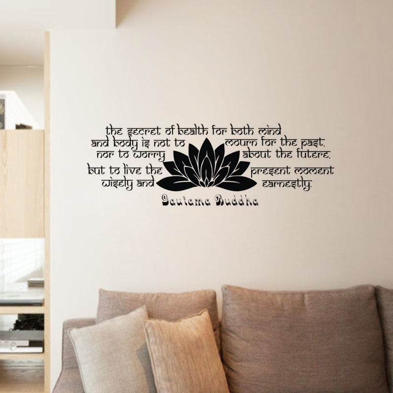 Beautiful EHome Gautama Buddha Wall Stickers Quotes Removable Vinyl Art Decals  Buddhism Home Decoration Wall Murals Part 4