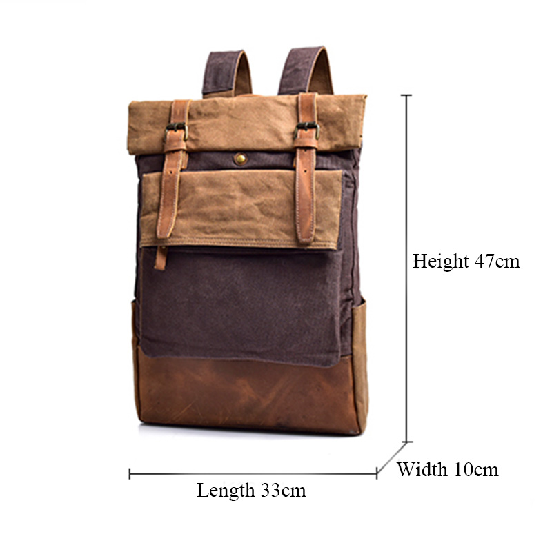 748eee1fd Men Backpack Vintage Canvas Backpack Male Travel Bags Large Capacity ...