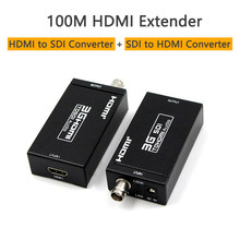 100m HDMI Coax Extender 3G Mini rozmiar HDMI do SDI konwerter SDI do konwertera HDMI konwerter HDMI kabel koncentryczny(China)