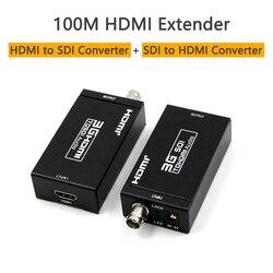 100m HDMI Coax Extender nadajnik odbiornik 3G Mini konwerter HDMI na sdi sdi do HDMI konwerter Extender na kablu koncentrycznym na