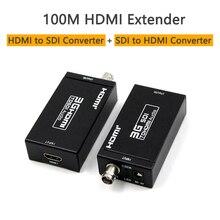 100m HDMI Coax Extender Sender Empfänger 3G Mini HDMI zu SDI Konverter SDI zu HDMI Konverter Extender über koaxialkabel