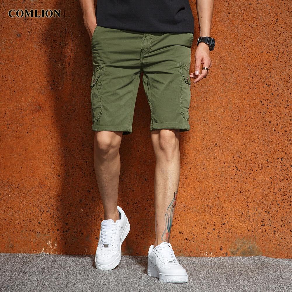 Casual Shorts 2018 Sommer Neue Casual Shorts Männer Cargo-shorts Männlichen Armee Stil Feste Hosen Bermuda Marken Comlion Plus Größe Hohe Qualität F24 Dauerhafter Service