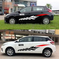 Car Modified Waist Line Stickers Waterproof Personalized Decals Automobiles Exterior Accessories