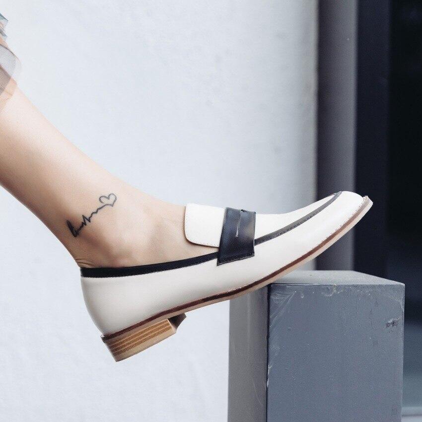 Zapatos planos de mujer Donna in Slip on mocasines de cuero genuino zapatos de mujer casuales cómodos otoño primavera zapatos de mujer 2019 nuevo-in Zapatos planos de mujer from zapatos    3