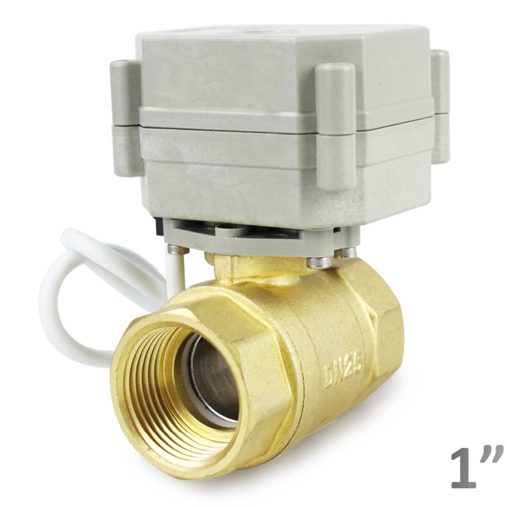 "HSH-Flo Three Way 12V//24VDC 1//2/"" 3//4/"" 1/""  Brass Motorized Electrical Ball Valve"