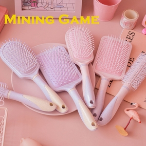 Purple Pink Combs Girls women Portable Comb Airbag Massage Oval Travel Hair brush Party Ddress up Decoration Supply Friend Gifts(China)