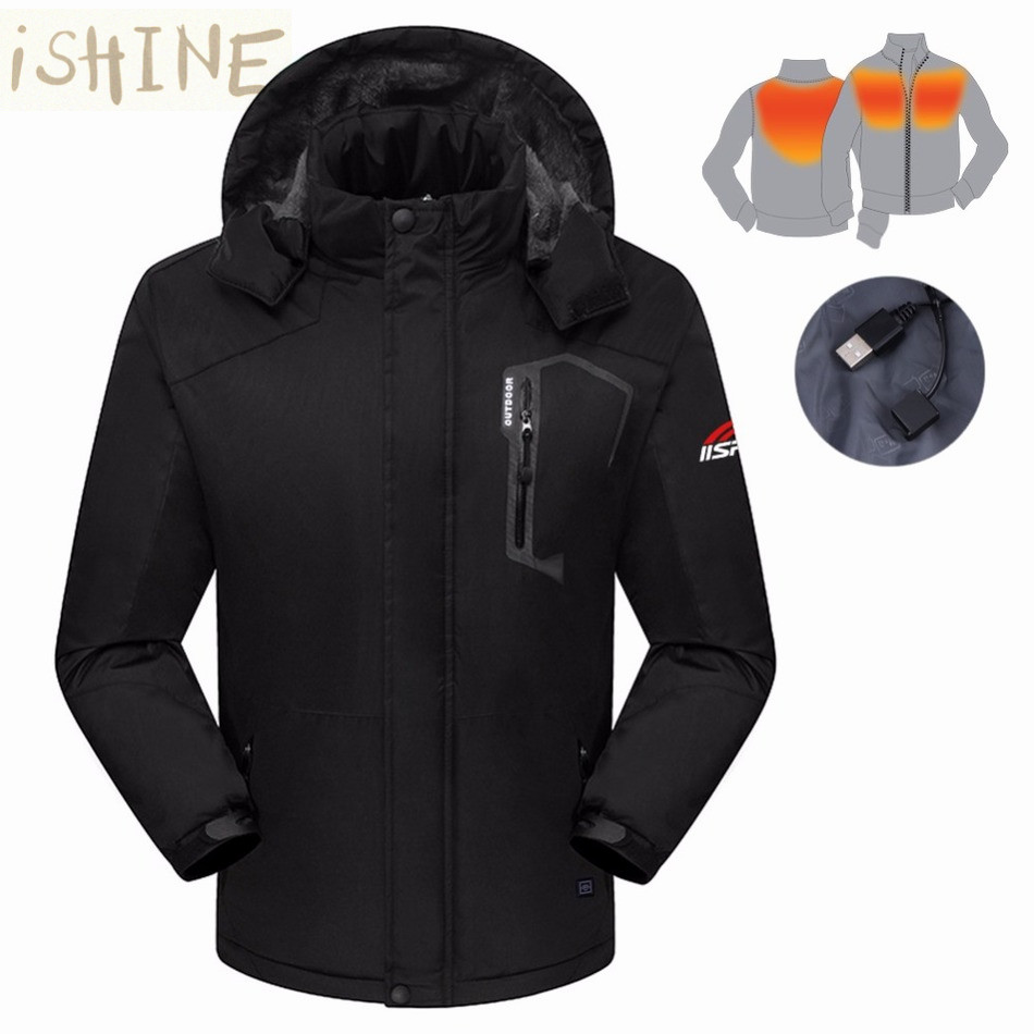 dcf927830 Winter Windproof Warm Jacket Electric Heated / Smart Bluetooth Earphone  Men's Coat-in Jackets from Men's Clothing & Accessories
