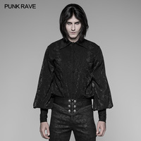 PUNK RAVE Men Steampunk Vintage Palace Style Blouse Gothic Party Fashion Personality Formal Men's Shirt