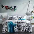 Nouveau ensemble de literie de luxe de mode reine/roi taille 100% ensemble de lit en coton 4 pièces panda zèbre star housse de couette draps ensembles blanc noir