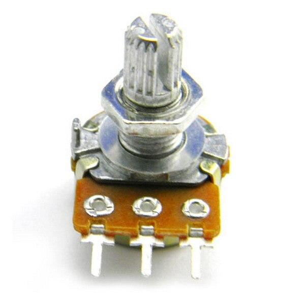 1pc B1K Ohm Linear Taper Rotary Potentiometer Panel Pot 15mm Shaft Nuts Washers 5pcs b1m 13mm knurled shaft rotary single linear taper potentiometers