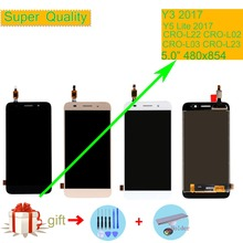 ORIGINAL For Huawei Y3 2017 CRO-L02 CRO-L22 CRO-L03 CRO-L23 LCD Display Touch Screen Assembly Y5 Lite 2017 LCD Digitizer Screen quying laptop lcd screen compatible model lp121wx3 tla1 tla2 ltn121at06 g01 l02 h01 b121ew09 v 2 v 3 n121ib l06