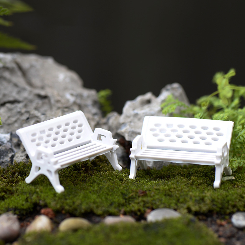 Pleasant Us 0 54 35 Off 1Pcs Mini White Plastic Park Seat Bench Garden Ornament Fairy Dollhouse Decor Wedding Party Decoration 3 Size In Party Diy Unemploymentrelief Wooden Chair Designs For Living Room Unemploymentrelieforg