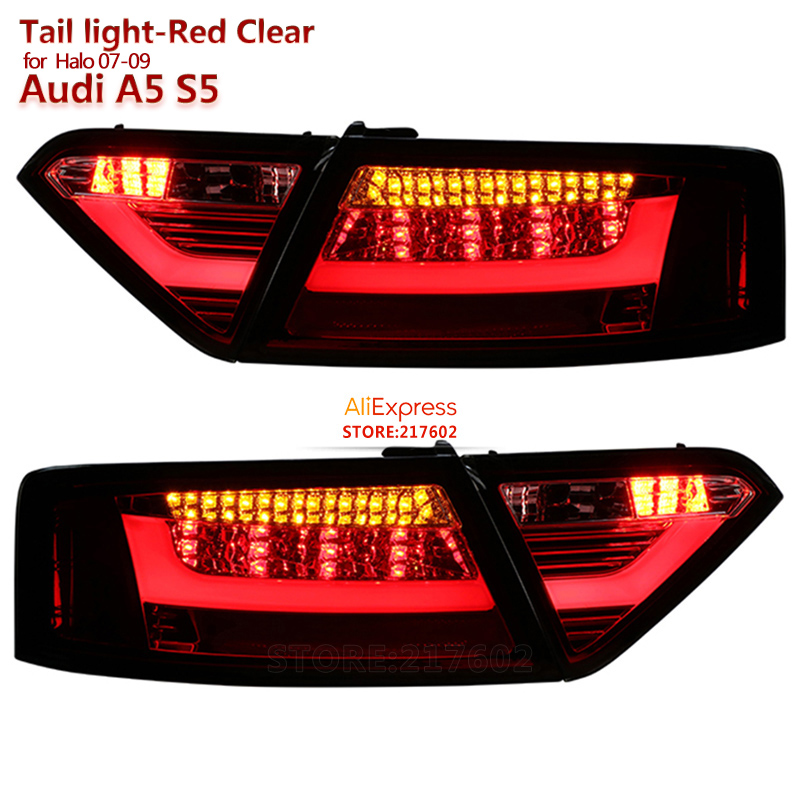 LED Rear lights for Audi A5 2007 to 2012 year Replacement for ogirinal car Halo models Red Housing ensure fitment & durability