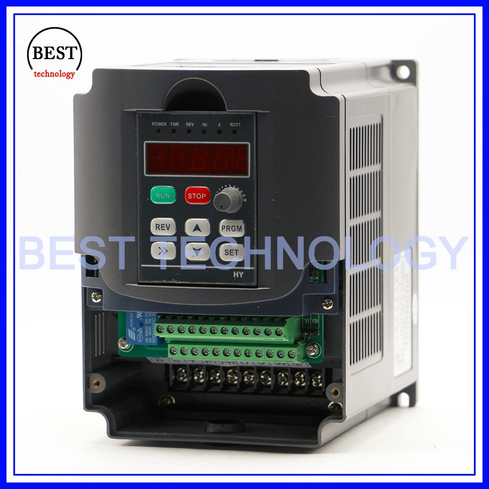 Image 3 - 220v 3.0kw  VFD Variable Frequency Drive  Inverter / VFD 1HP or 3HP Input 3HP Output CNC Driver CNC Spindle motor Speed controlinverter importerproduction stripinverter model -