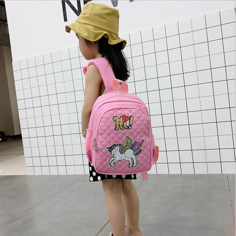 NEW Toddler Backpack Children Unicorn School Bags For Girls Cartoon School Knapsack Kids Nylon Backpack Bolsa Escolar Age 1-6