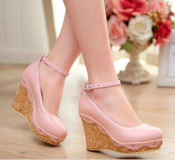 Pink and White High Heels Promotion-Shop for Promotional Pink and ...